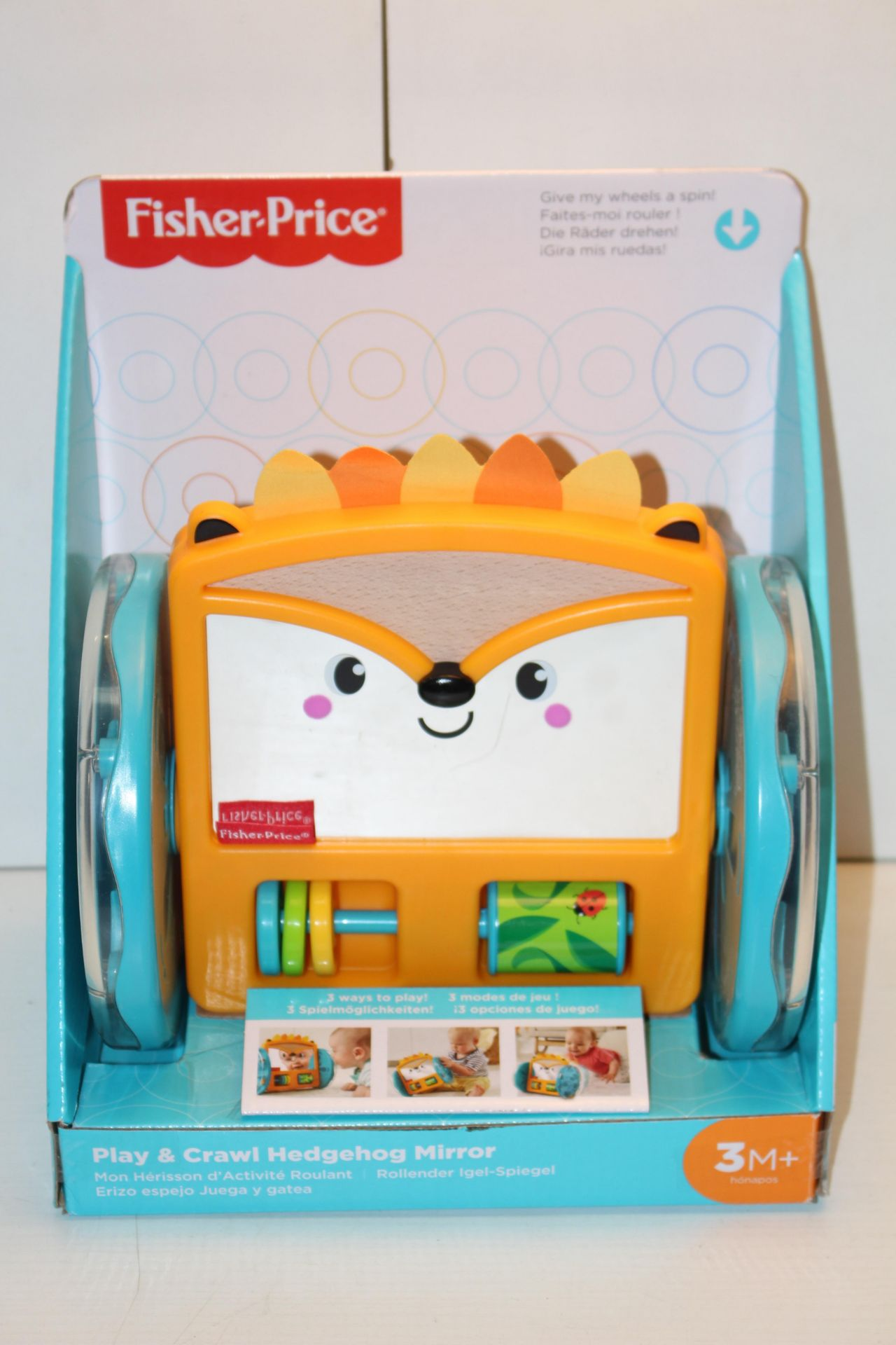 BOXED FISHER PRICE PLAY & CRAWL HEDGEHOG MIRROR RRP £14.99Condition ReportAppraisal Available on