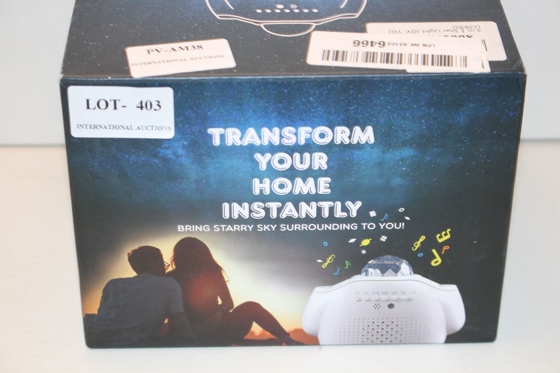 BOXED STARRY PROJECTOR LIGHT TRANSFORM YOUR HOME Condition ReportAppraisal Available on Request- All