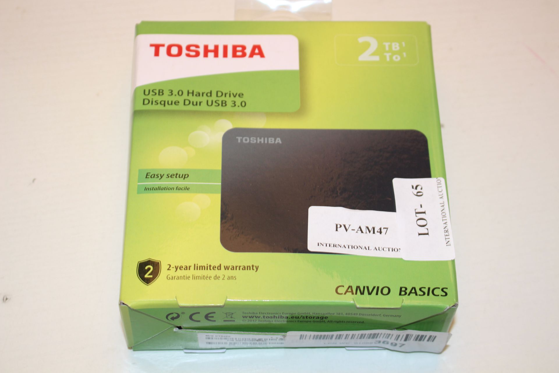 BOXED TOSHIBA 2TB USB 3.0 HARD DRIVE RRP £54.99Condition ReportAppraisal Available on Request- All