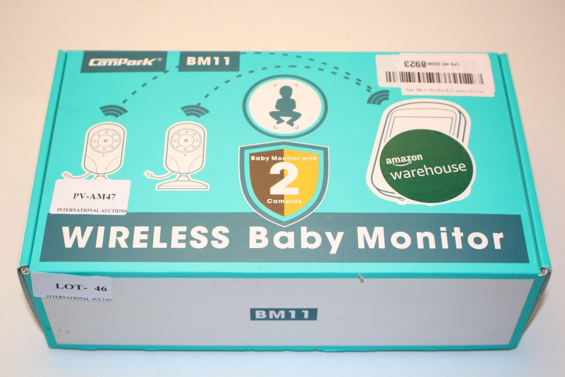 BOXED CAMPARK BM11 WIRELESS BABY MONITOR RRP £49.99Condition ReportAppraisal Available on Request-