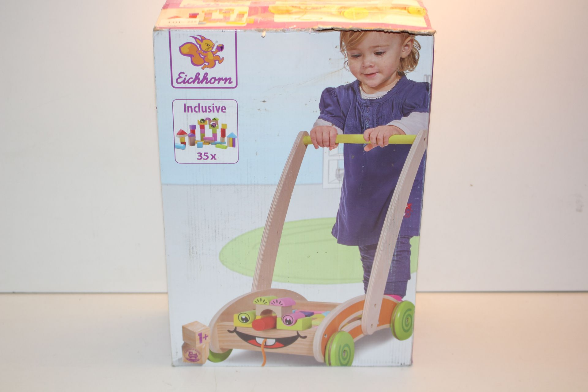BOXED EICHORN PUSH ALONG WOODEN BUILDING TROLLEY (IMAGE DEPICTS STOCK)Condition ReportAppraisal