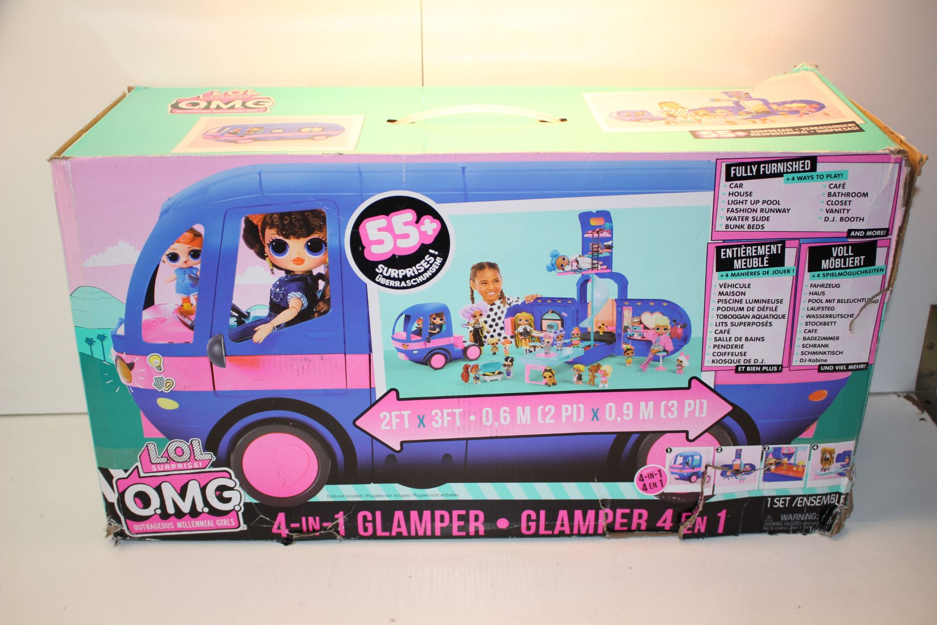 BOXED L.O.L SURPRISE O.M.G 4-IN-1 GLAMPER RRP £64.99Condition ReportAppraisal Available on