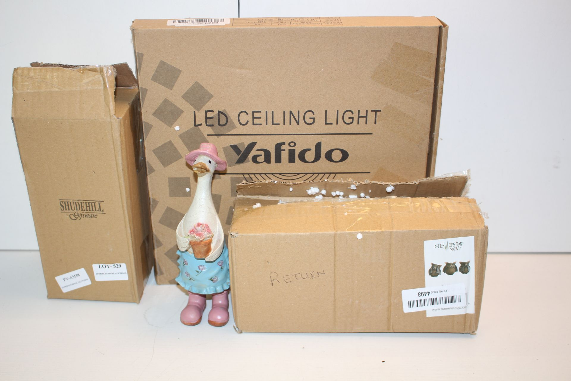 X3 ITEMS INCLUDING DECORATIVE ORNAMENTS AND LED LIGHTCondition ReportAppraisal Available on Request-