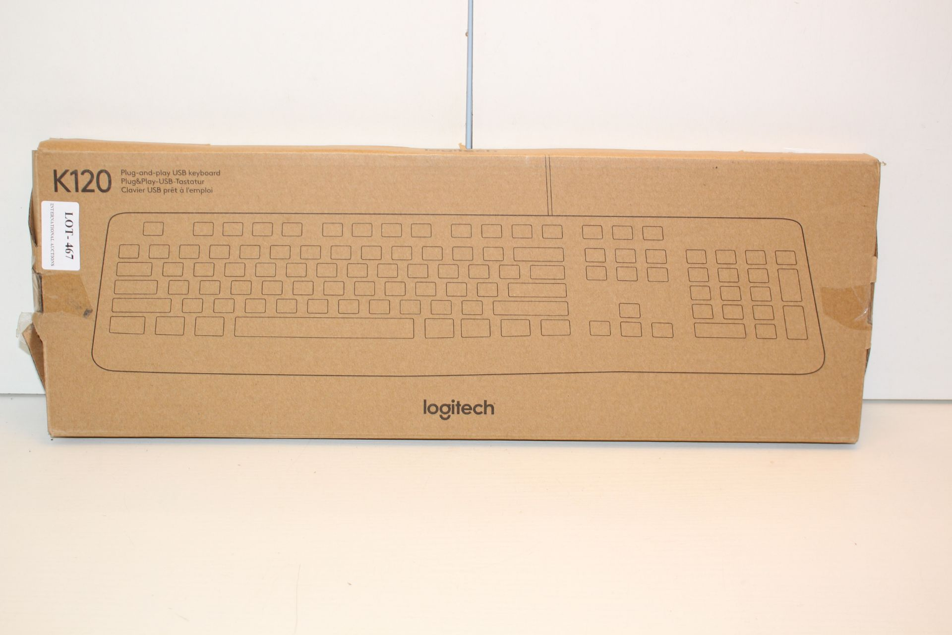 BOXED LOGITECH K120 KEYBOARDCondition ReportAppraisal Available on Request- All Items are
