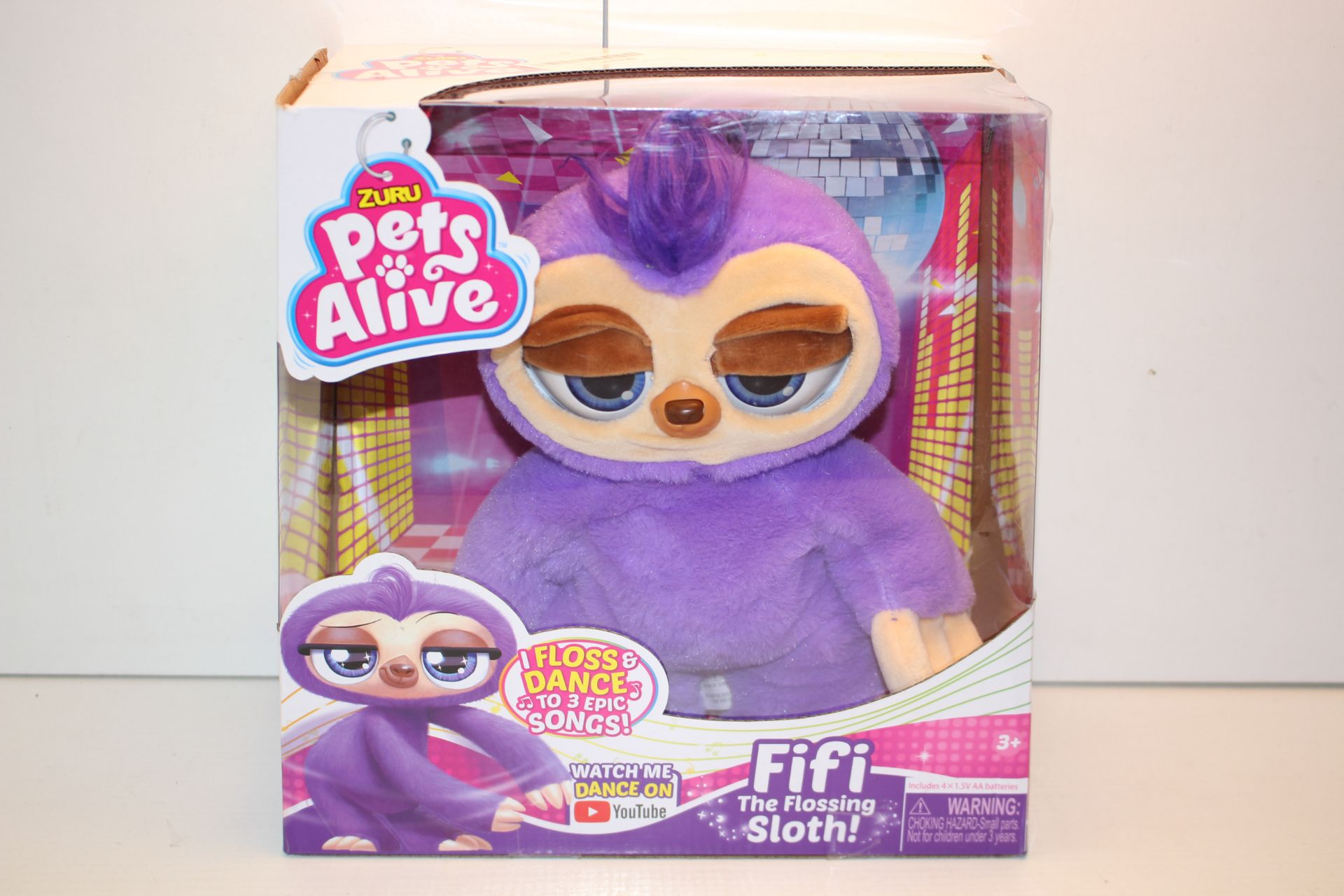 BOXED ZURU PETS ALIVE FIFI THE FLOSSING SLOTH!Condition ReportAppraisal Available on Request- All
