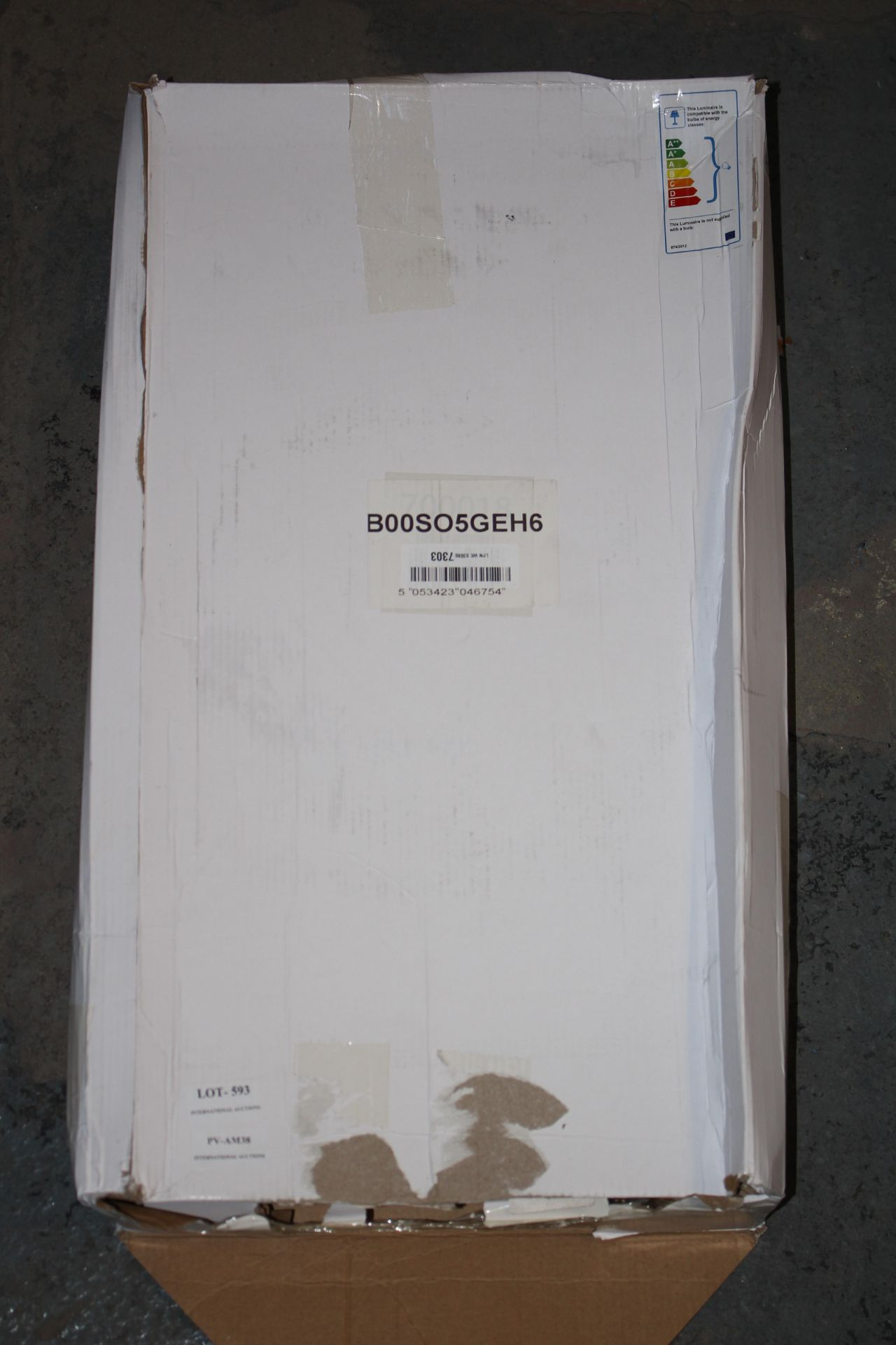 BOXED CHROME FREESTANDING LAMPCondition ReportAppraisal Available on Request- All Items are