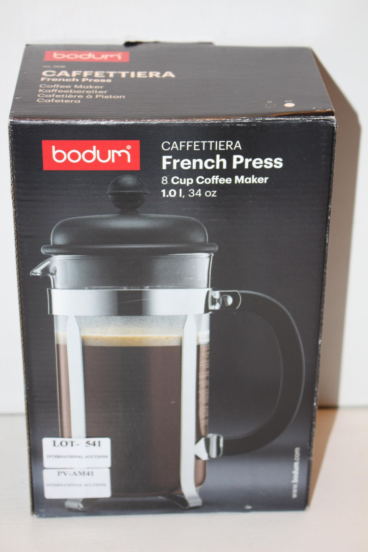 BOXED BODUM 8 CUP FRENCH PRESSCondition ReportAppraisal Available on Request- All Items are