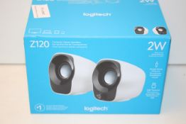 BOXED LOGITECH Z120 COMPACT STEREO SPEAKERS RRP £19.99Condition ReportAppraisal Available on