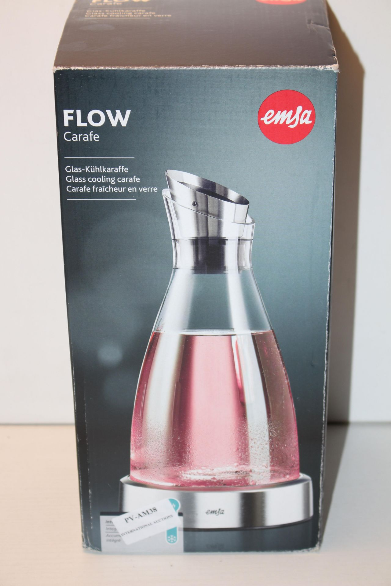BOXED EMSA FLOW CARAFE - WITH COOLING ELEMENT RRP £30.42Condition ReportAppraisal Available on