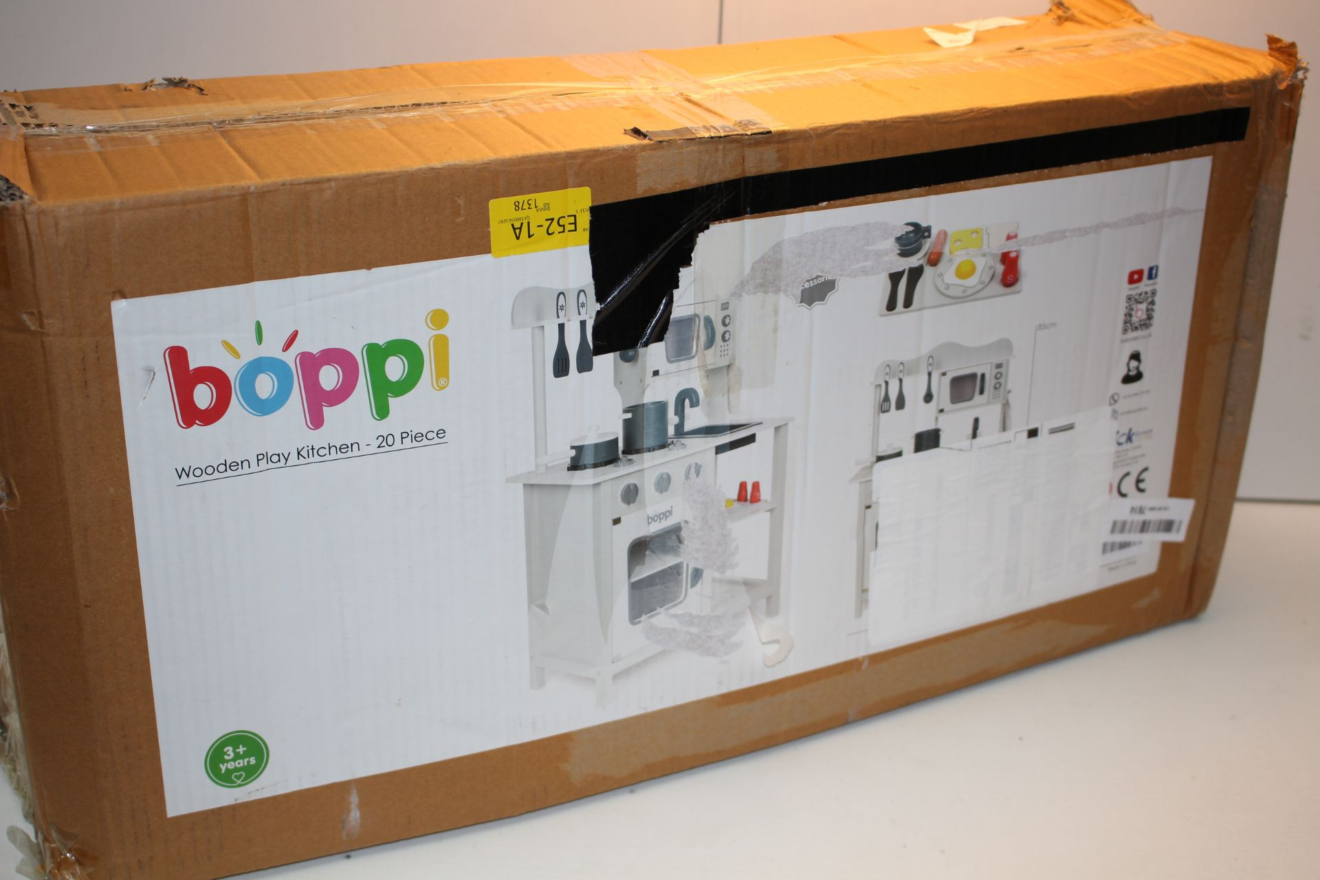 BOXED BOPPI WOODEN PLAY KITCHEN 20PC SET MODEL: W10C045 RRP £69.99Condition ReportAppraisal