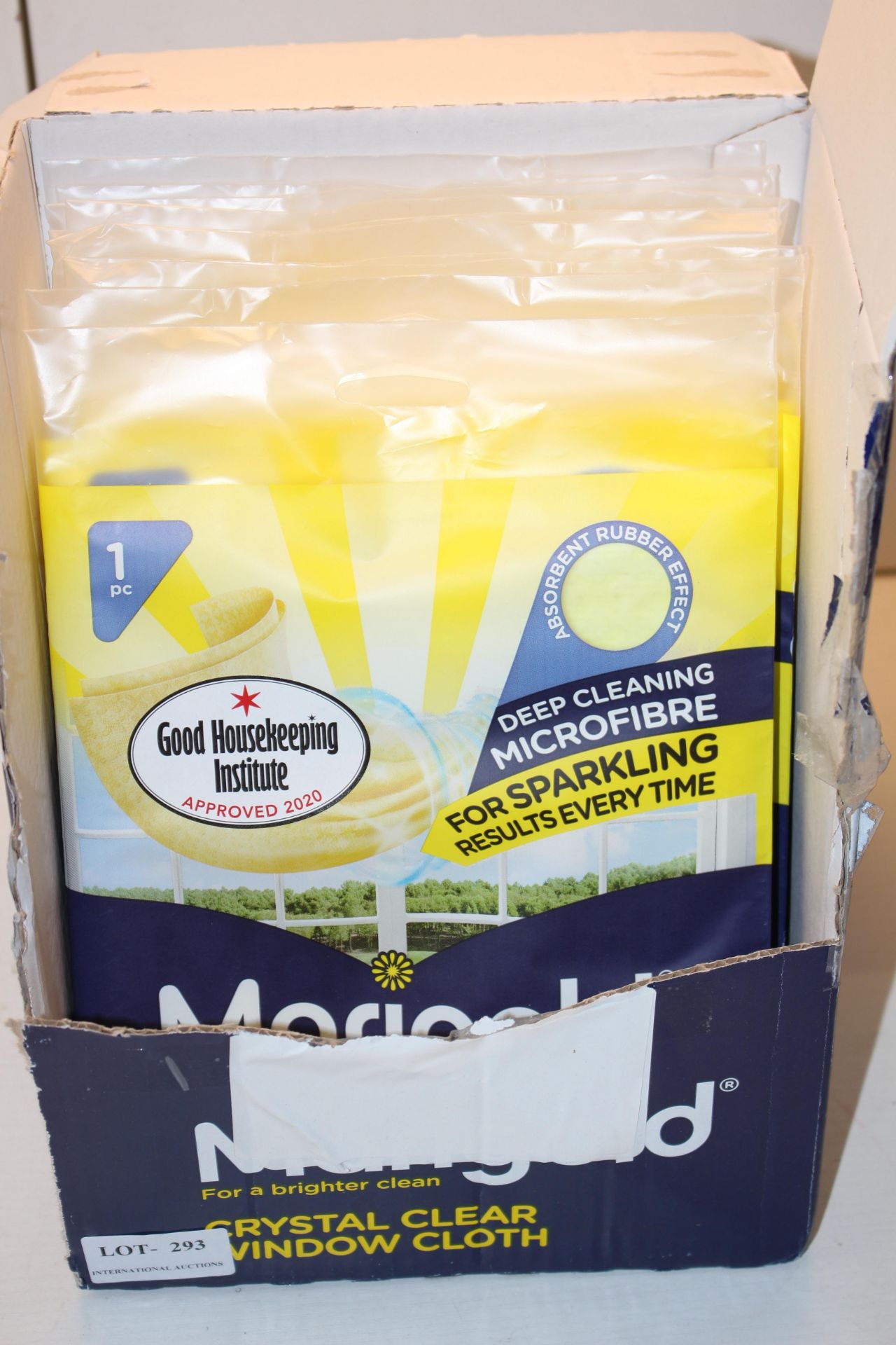 8X SEALED MARIGOLD WINDOW CLEANING CLOTHSCondition ReportAppraisal Available on Request- All Items