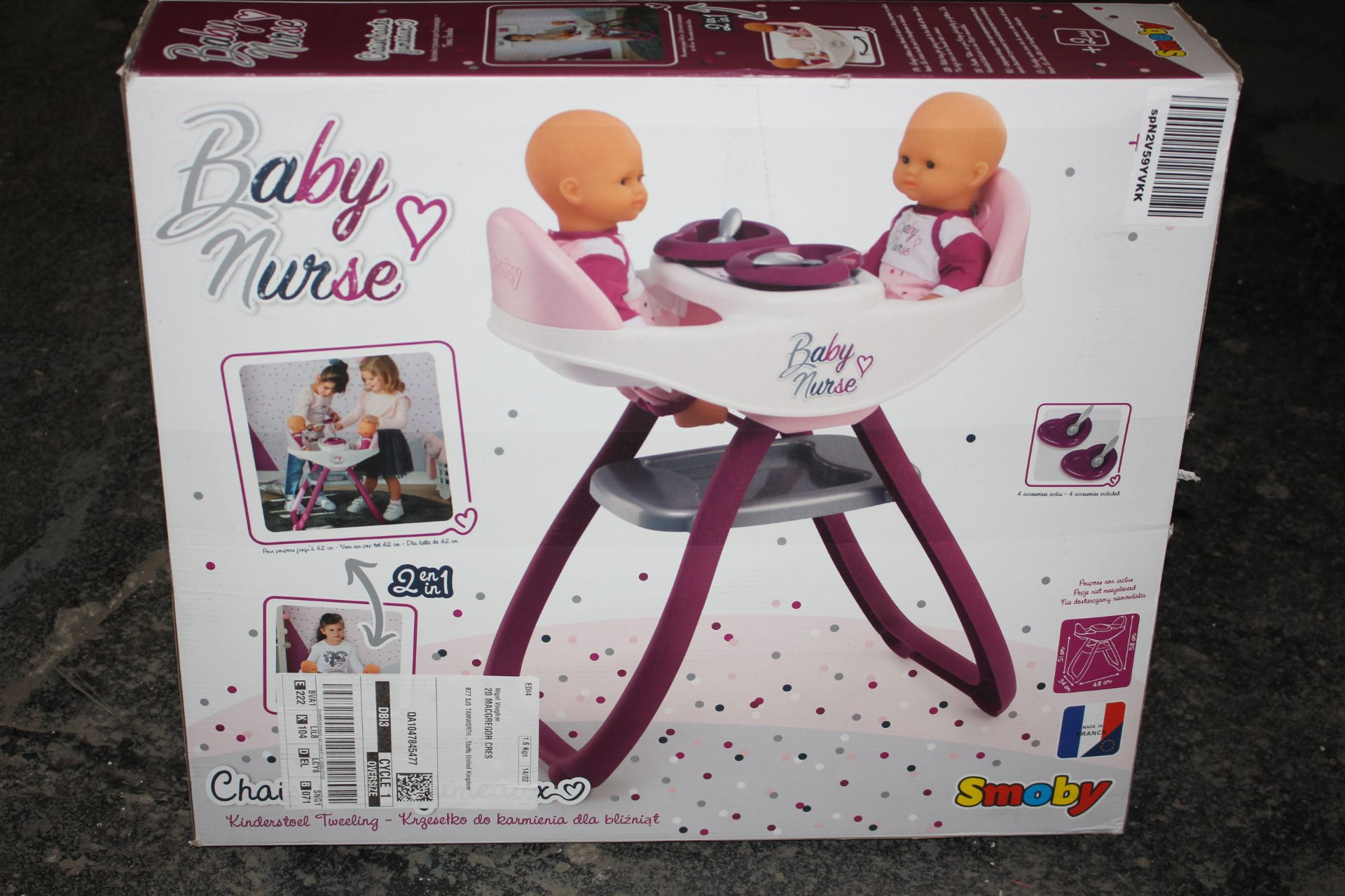 BOXED SMOBY BABY NURSE SET Condition ReportAppraisal Available on Request- All Items are Unchecked/