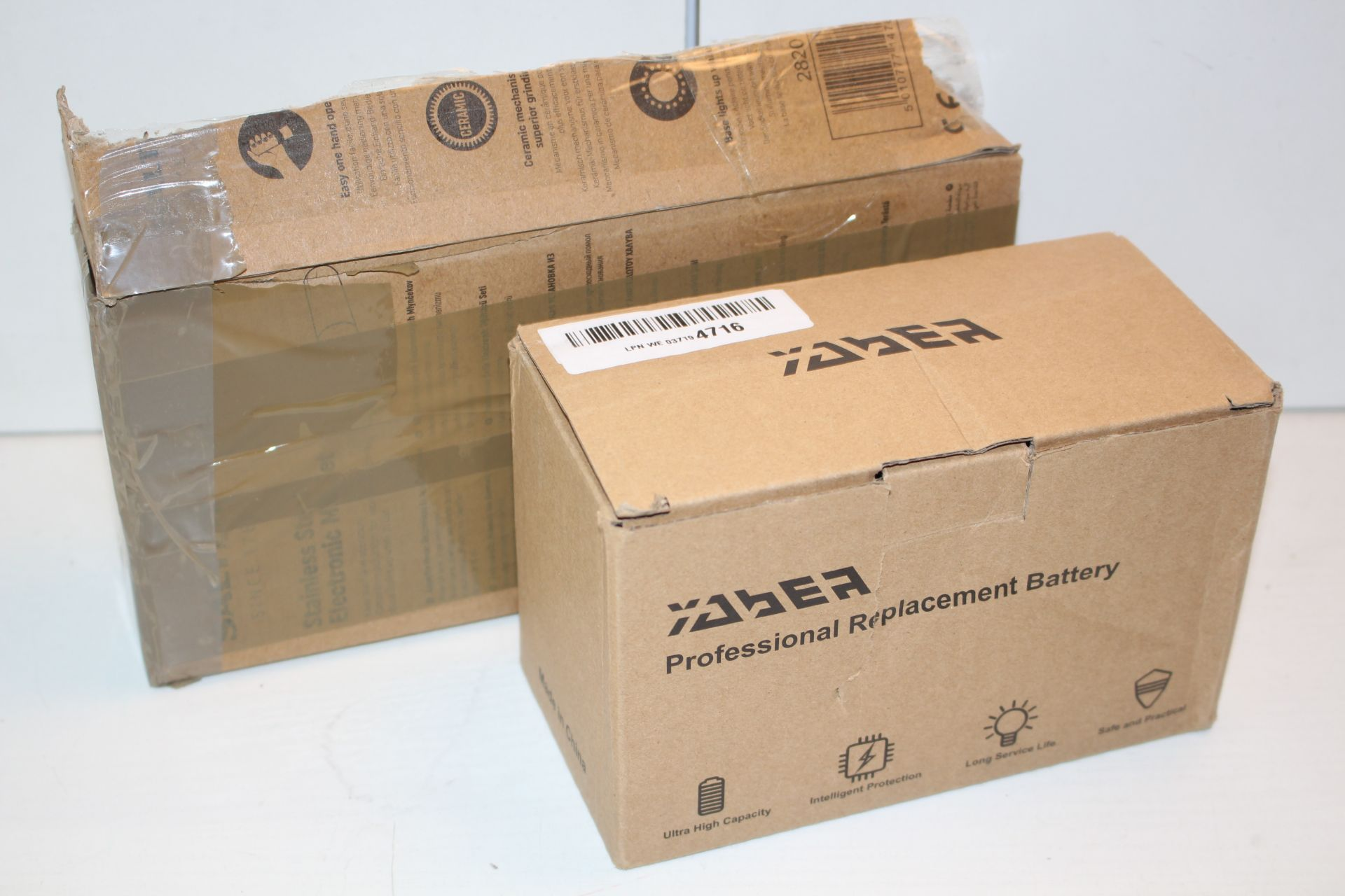 X2 BOXED ITERMS INCLUDING, RERPLACMENT BATTERY AND X1 SALTER MILLCondition ReportAppraisal Available