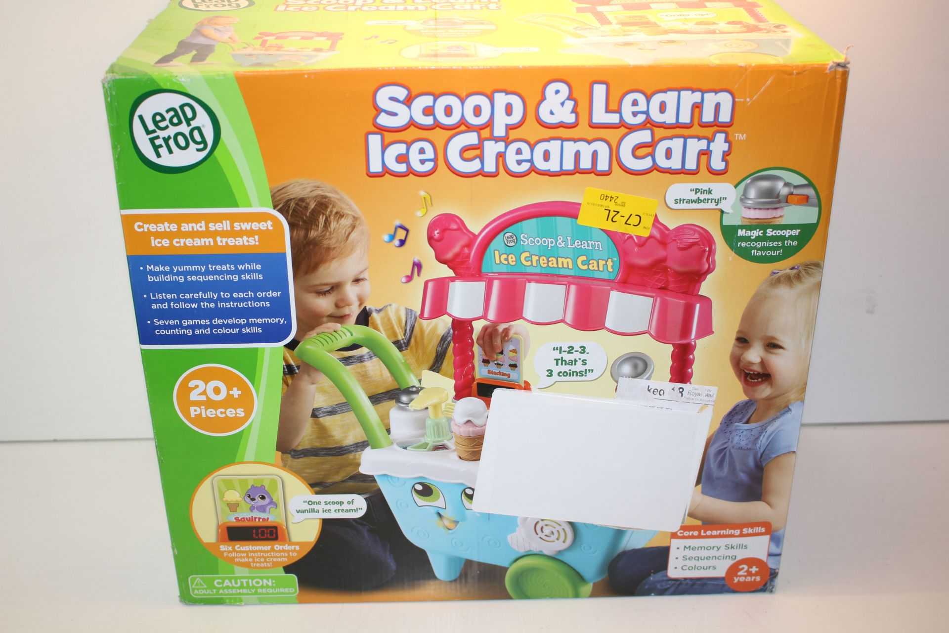 BOXED LEAP FROG SCOOP & LEARN ICE CREAM CART RRP £39.99Condition ReportAppraisal Available on