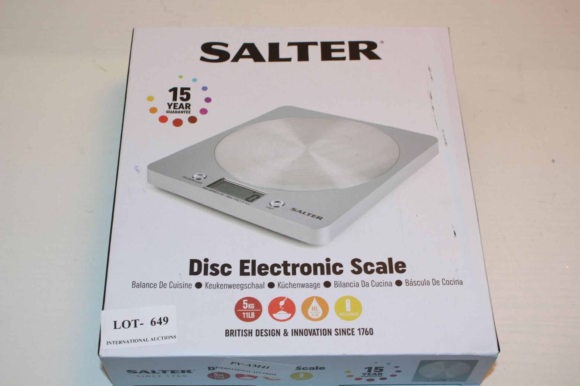 BOXED SALTER DISC ELECTRONIC SCALESCondition ReportAppraisal Available on Request- All Items are