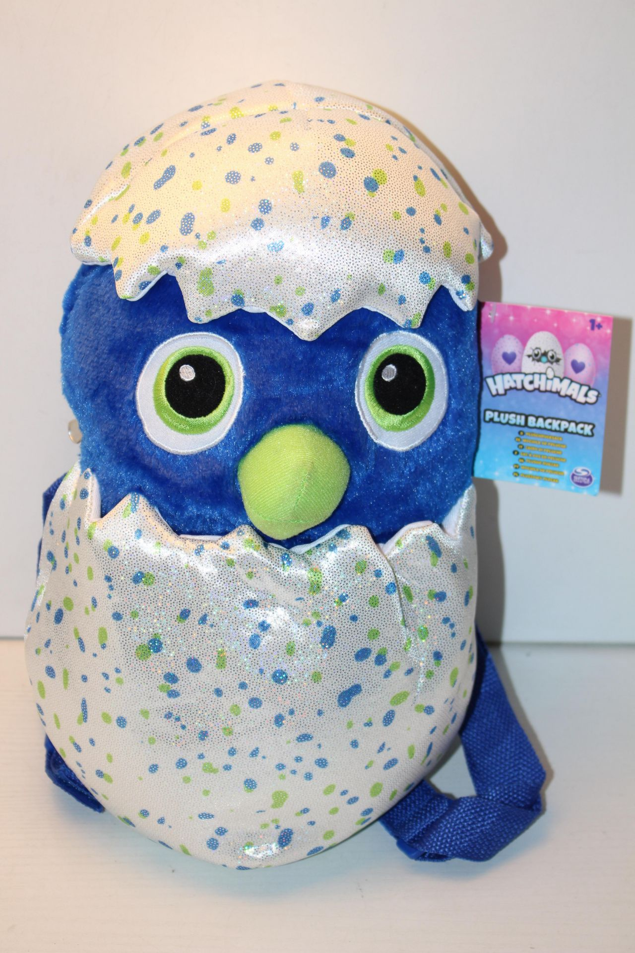 2X UNBOXED WITH TAGS HATCHIMALS PLUSH BACKPACKSCondition ReportAppraisal Available on Request- All