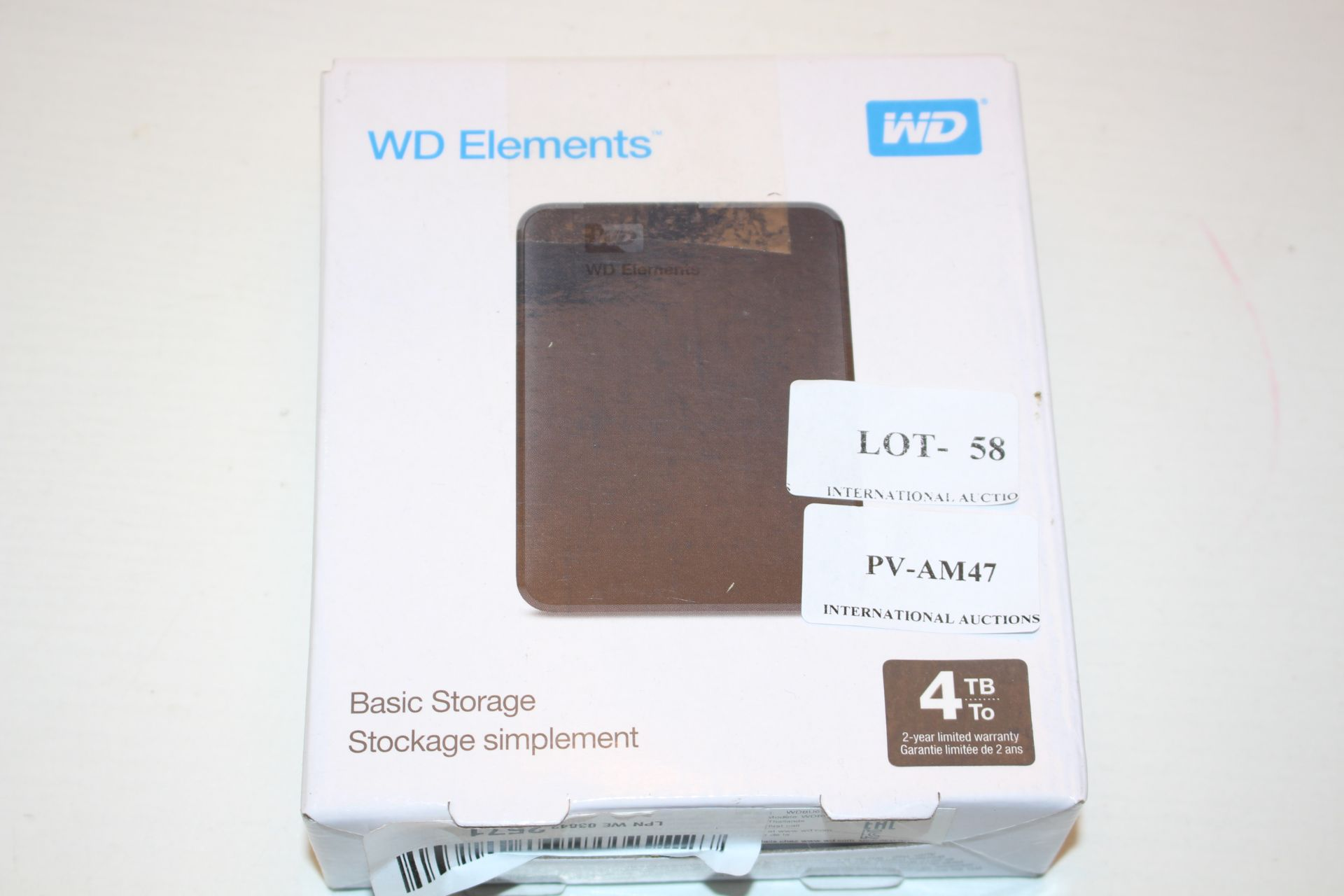 BOXED WD ELEMENTS BASIC STORAGE 4TB RRP £50.00Condition ReportAppraisal Available on Request- All