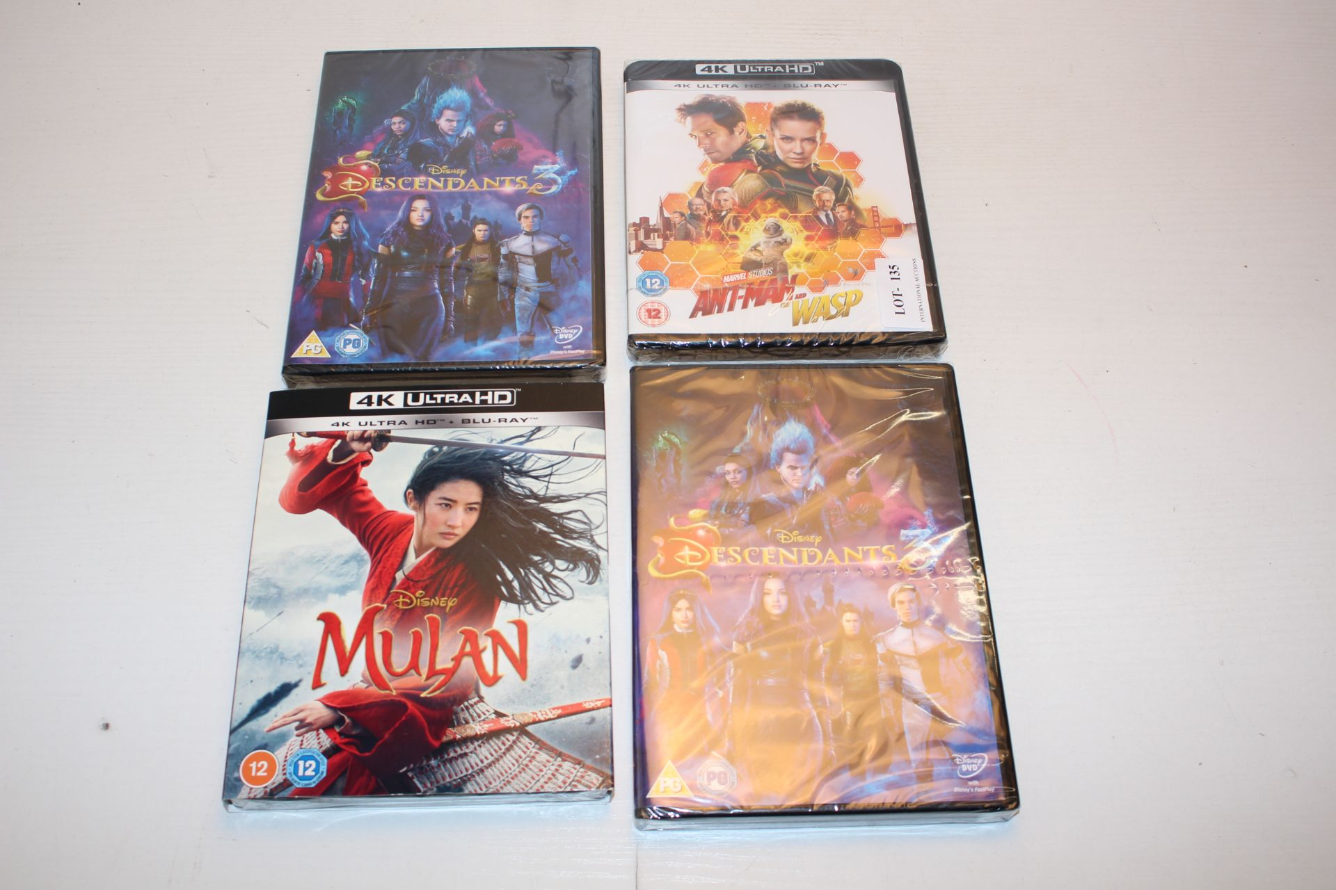 4X SEALED BOXED DVD MOVIES (IMAGE DEPICTS STOCK)Condition ReportAppraisal Available on Request-