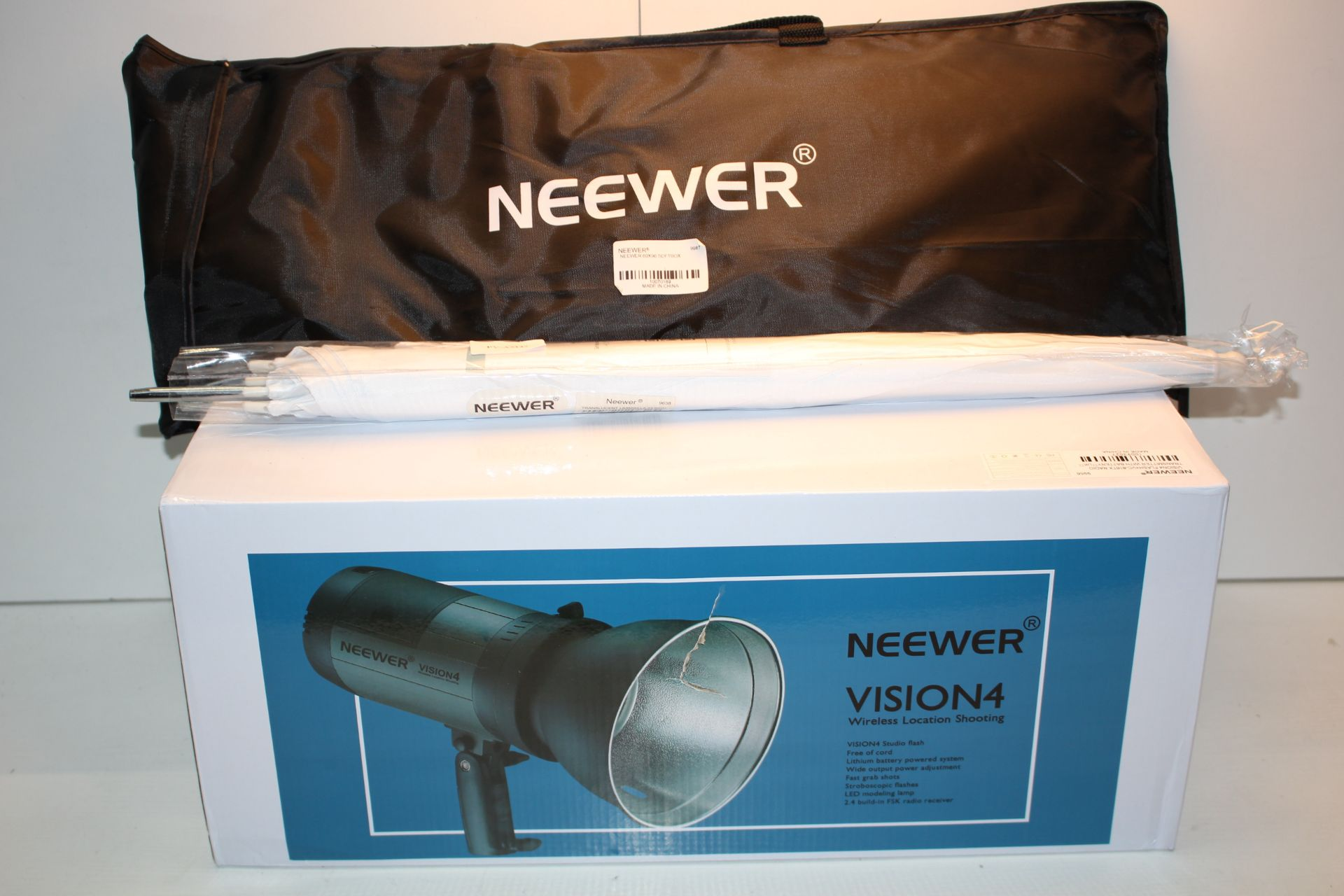 3X ASSORTED ITEMS TO INCLUDE NEEWAR VISION 4 WIRELESS LOCATION SHOOTING RRP £249.30Condition