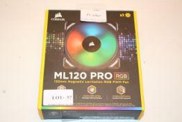BOXED CORSAIR ML120 PRO RGB 120MM MAGNETIC LEVITATION RGB PWM FAN RRP £71.20Condition