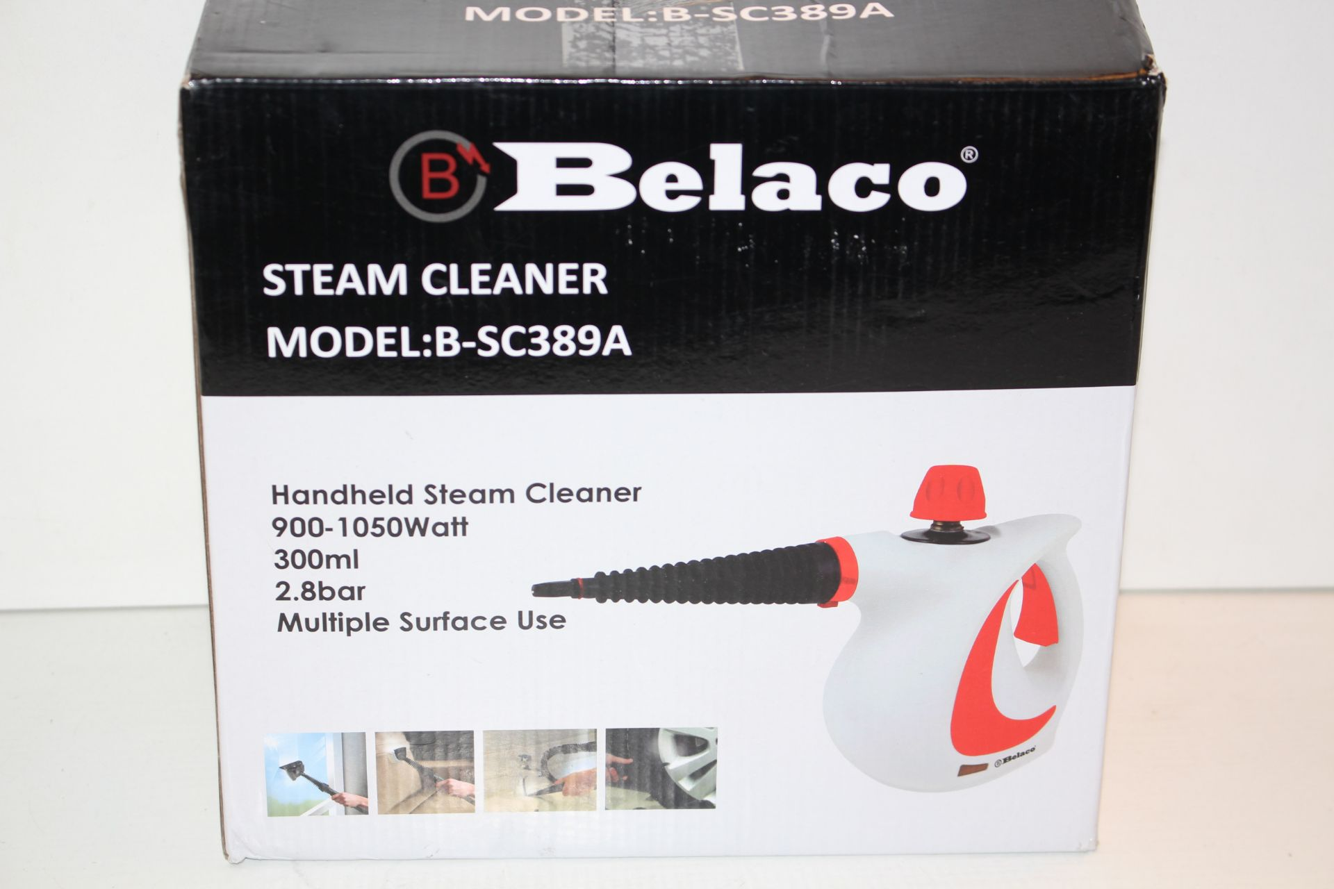 BOXEDE BELACO STEAM CLEANER, MODEL- BSC38Condition ReportAppraisal Available on Request- All Items