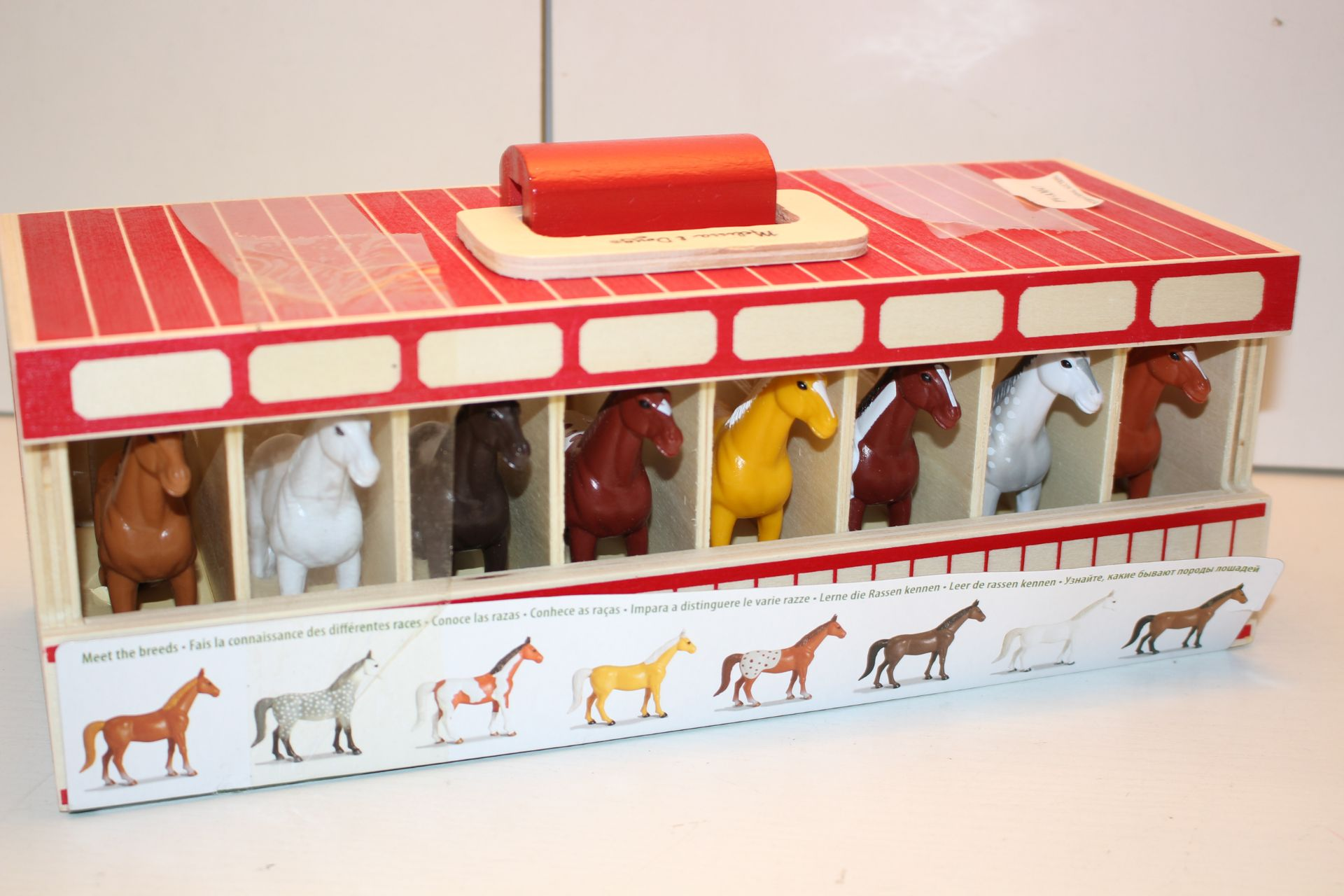 UNBOXED WITH CARRY CASE MELISSA & DOUG SHOW HORSE STABLECondition ReportAppraisal Available on