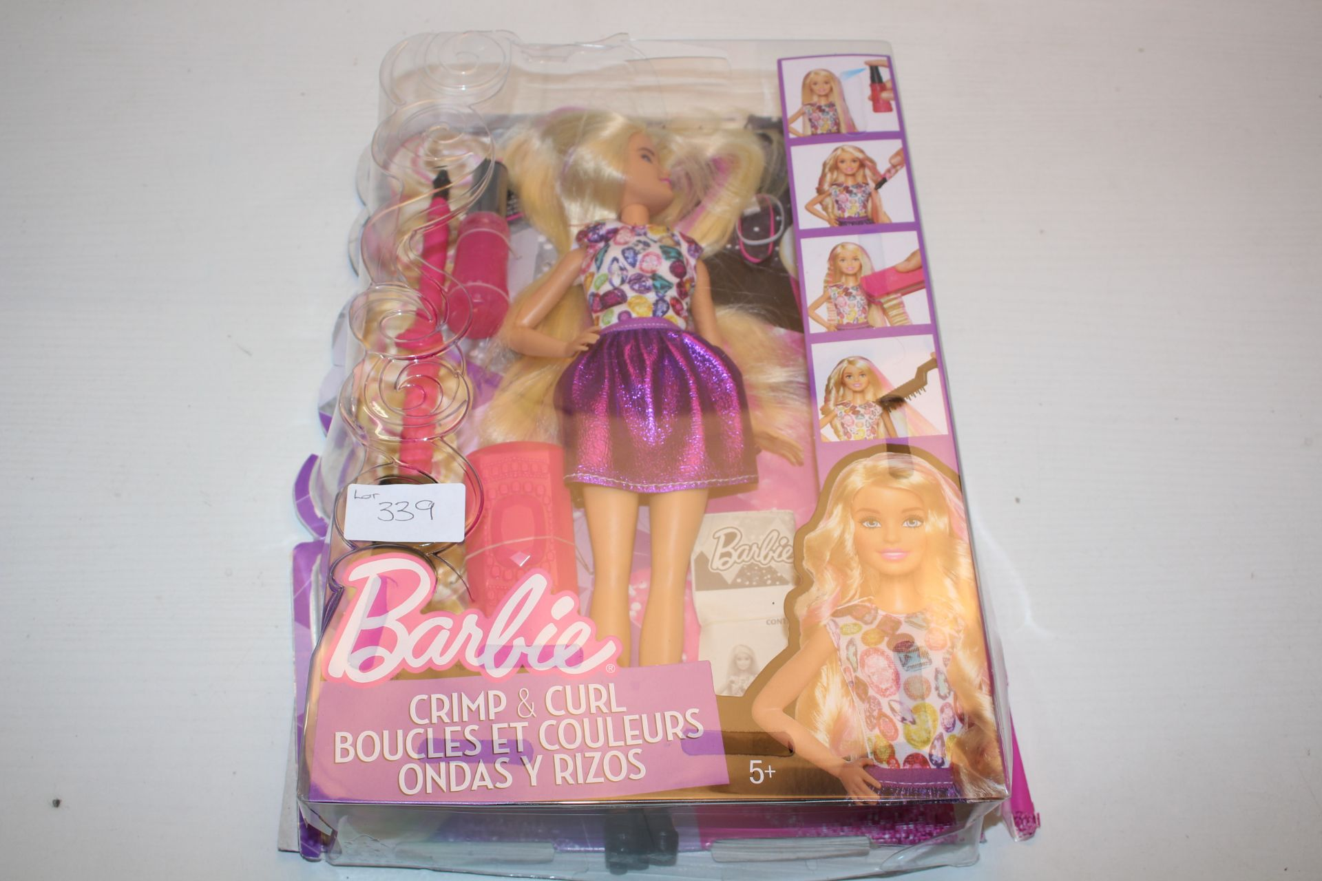 BOXED BARBIE CRIMP & CURL DOLL Condition ReportAppraisal Available on Request- All Items are