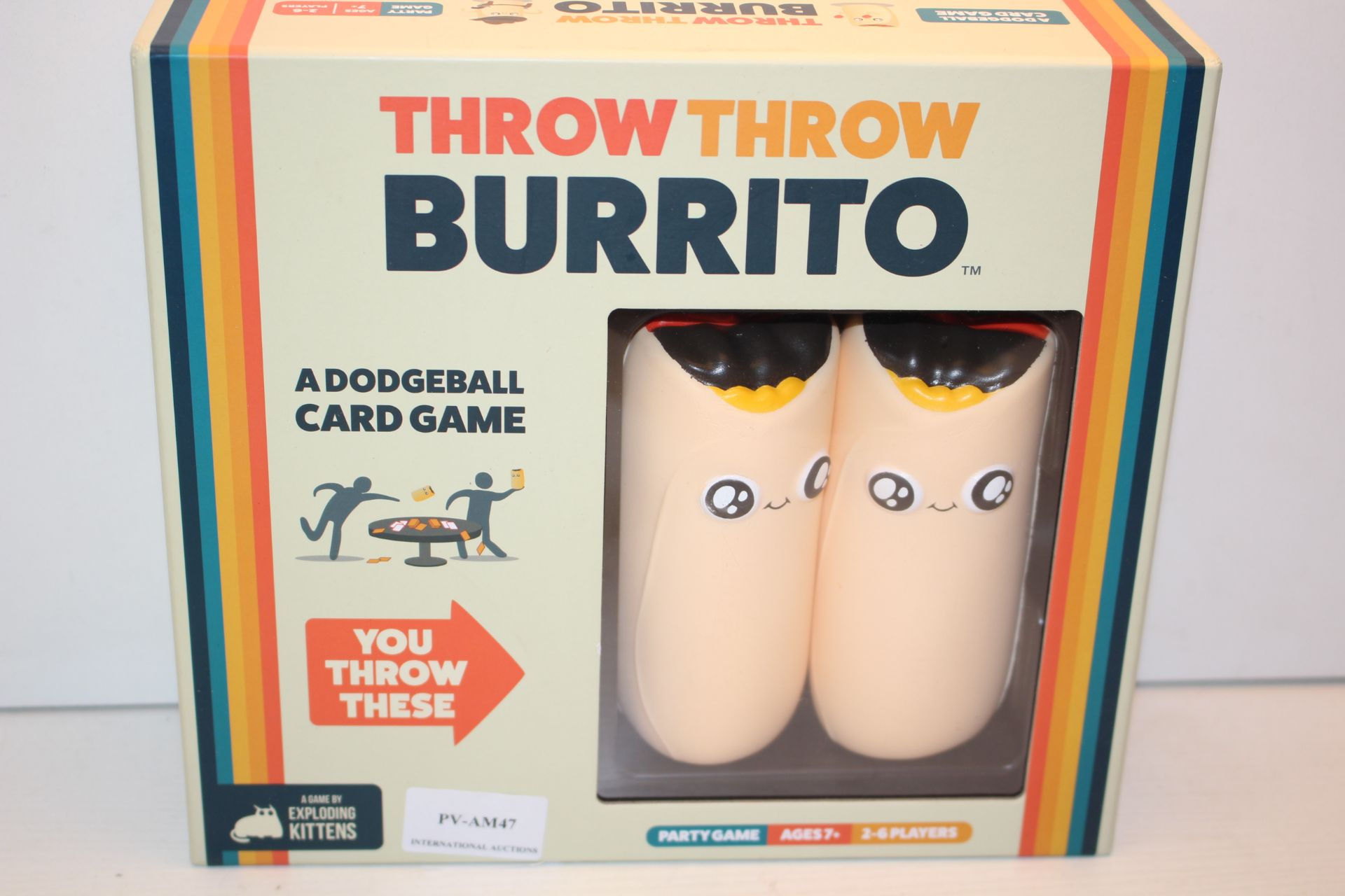 BOXED THROW THROW BURRITO GAMECondition ReportAppraisal Available on Request- All Items are