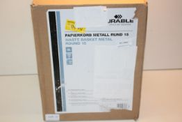 BOXED DURABLE WASTE BASKET METAL Condition ReportAppraisal Available on Request- All Items are