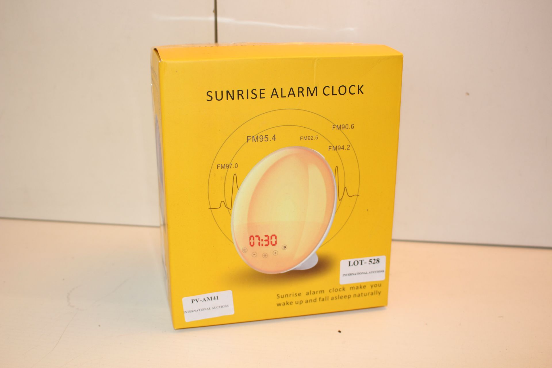 BOXED SUNRISE NALARM CLOCK Condition ReportAppraisal Available on Request- All Items are Unchecked/