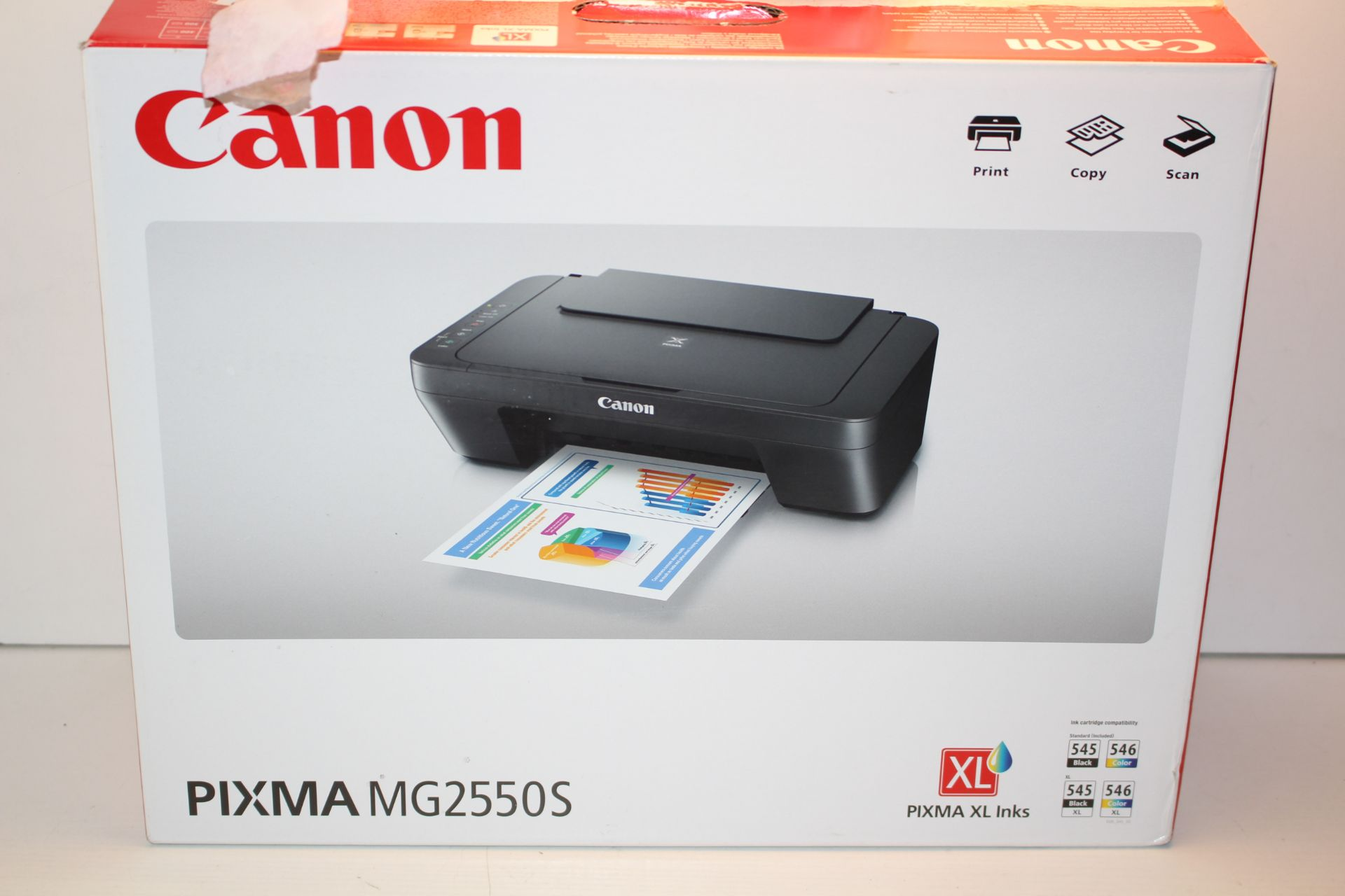 BOXED CANON PIXMA MG2550S PRINTER RRP £39.99Condition ReportAppraisal Available on Request- All