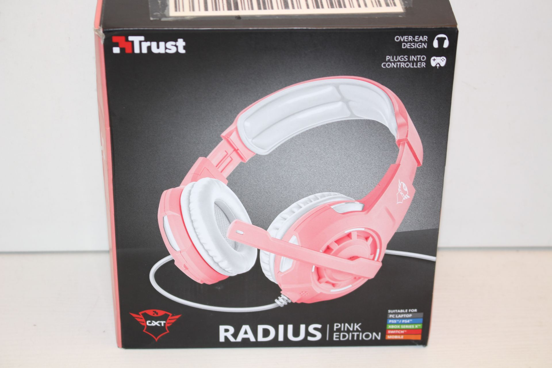 BOXED TRUST RADIUS PINK EDITION CXT GAMING HEADSET RRP £23.99Condition ReportAppraisal Available