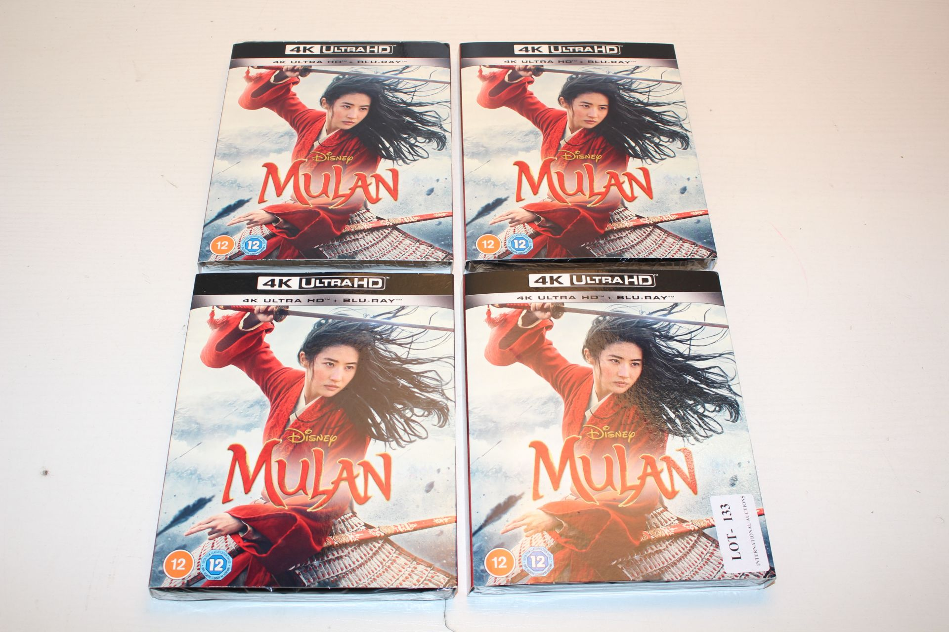 4X BOXED SEALED DISNEY MULAN 4K ULTRA HD + BLU RAY DVD DISCS Condition ReportAppraisal Available