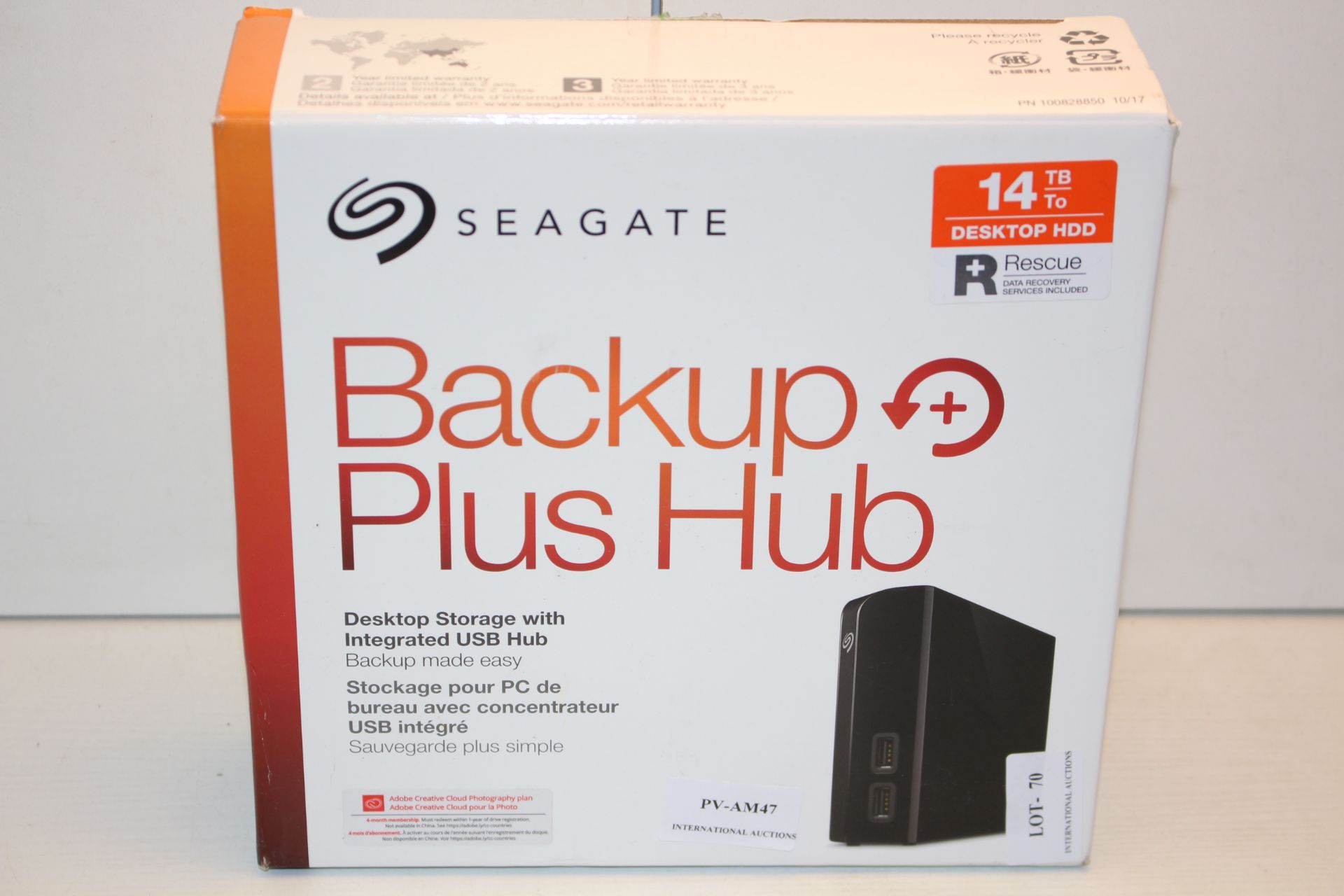 BOXED SEAGATE BACKUP PLUS HUB 14TB RRP £258.99Condition ReportAppraisal Available on Request- All