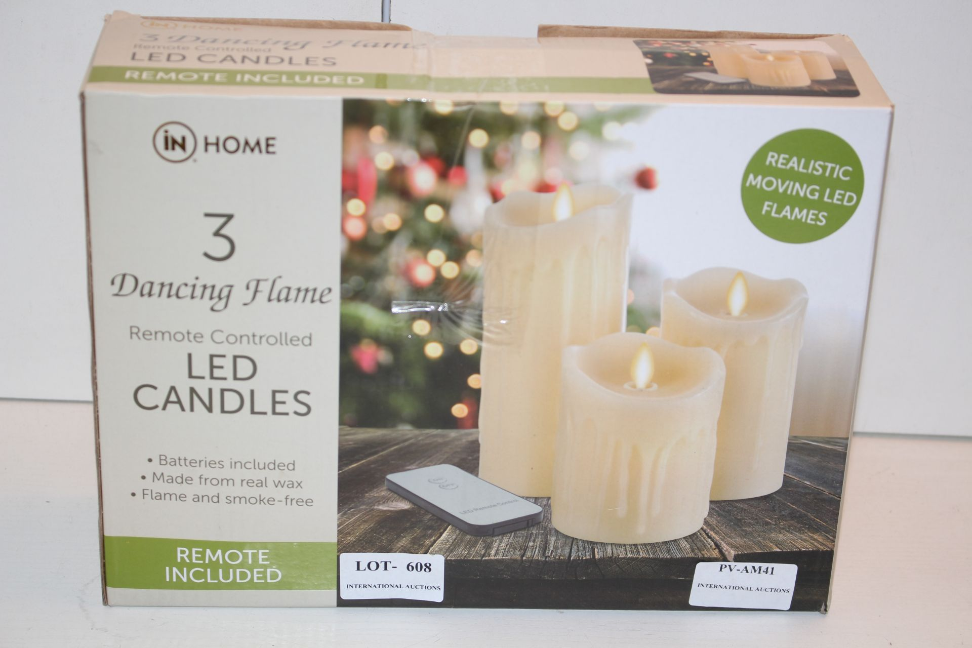 BOXED IN HOME 3 DANCING DECORATIVE CANDLESCondition ReportAppraisal Available on Request- All