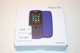 BOXED NOKIA 105 4TH EDITION MOBILE PHONE RRP £29.99Condition ReportAppraisal Available on Request-