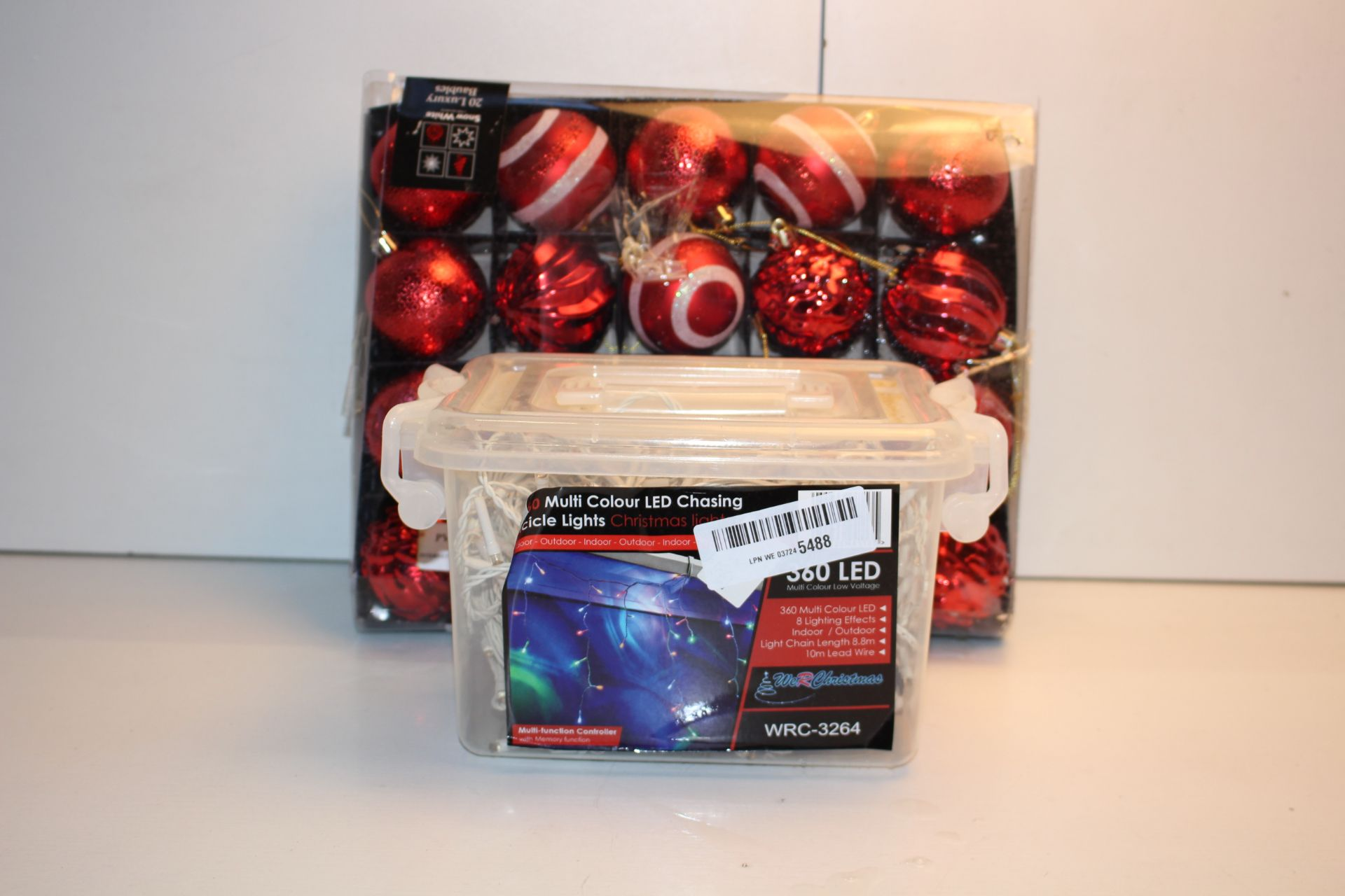 X2 BOXED CHRIOSTMAS DECORATIONS, PLEASE USE IMAGE AS A GUIDECondition ReportAppraisal Available on