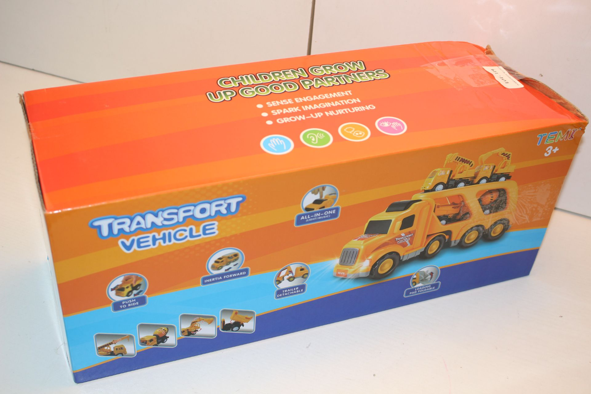 BOXED TRANSPORT VEHICLE - CHILDREN GROW UP GOOD PARTNERSCondition ReportAppraisal Available on