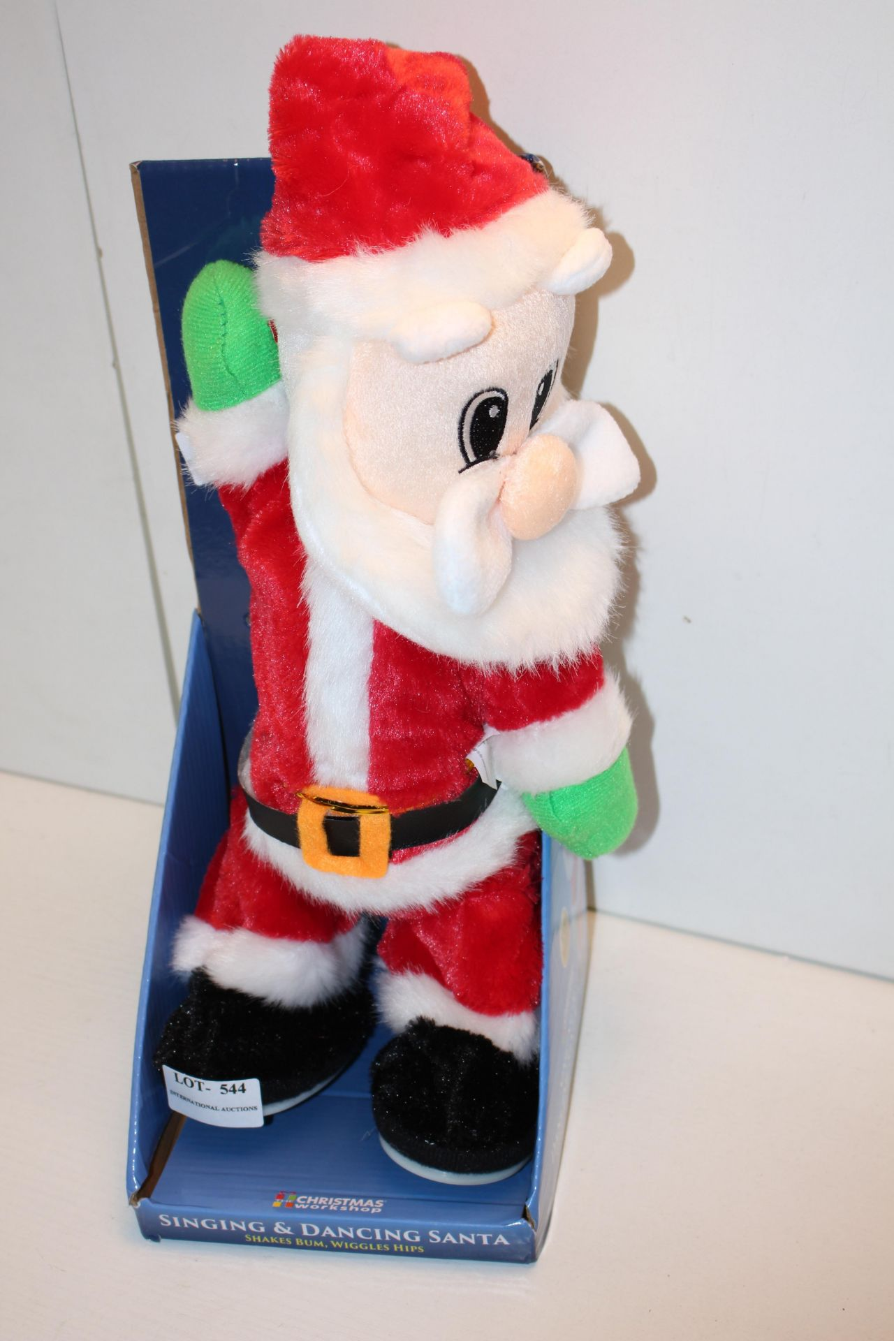 BOXED SINGING AND DANCING FATHER CHRISTMASCondition ReportAppraisal Available on Request- All