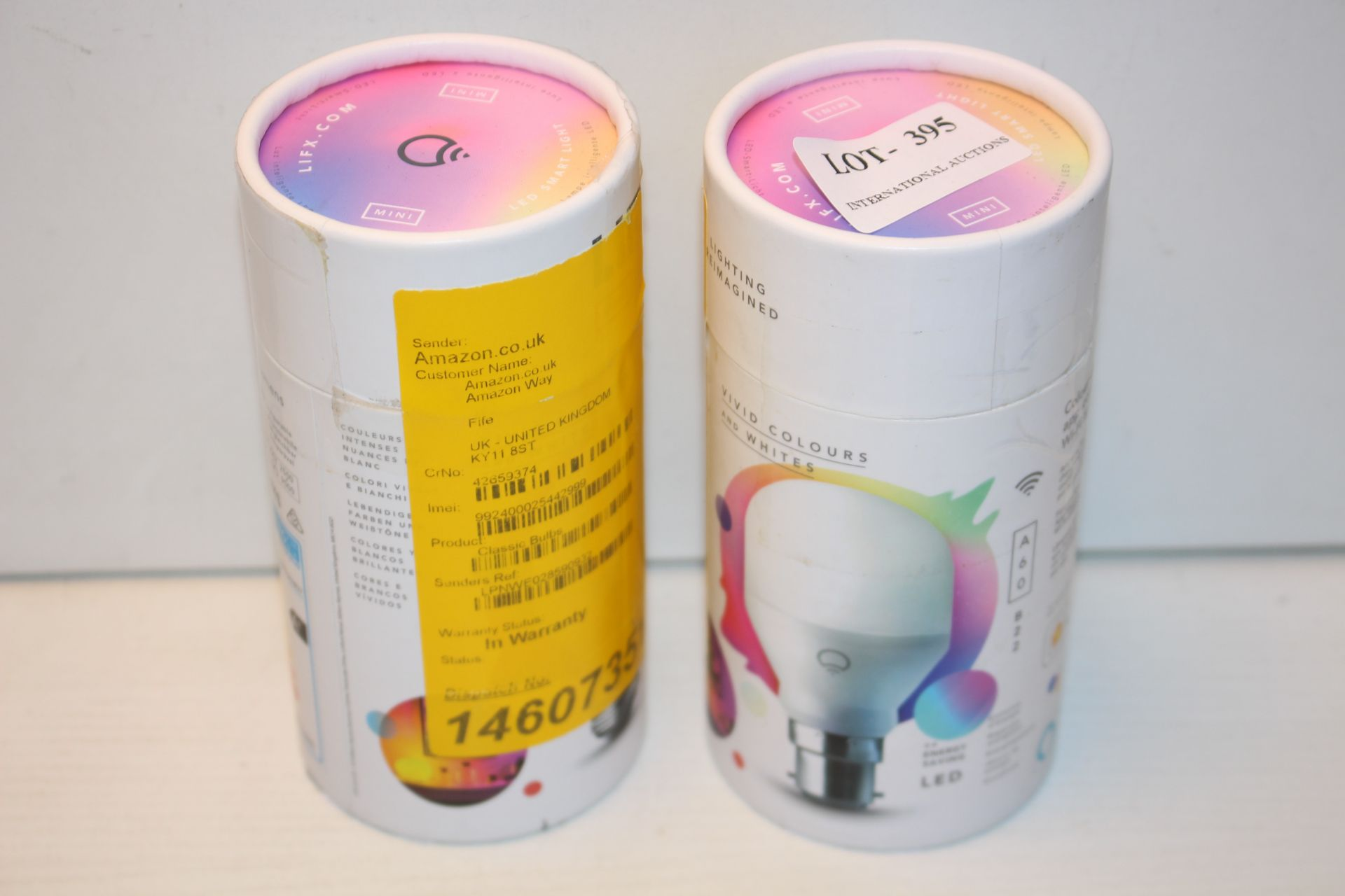2X BOXED LIFX MINI COLOUR CHANGING APP CONTROLLED WIFI LIGHT BULBS COMBINED RRP £66.00Condition