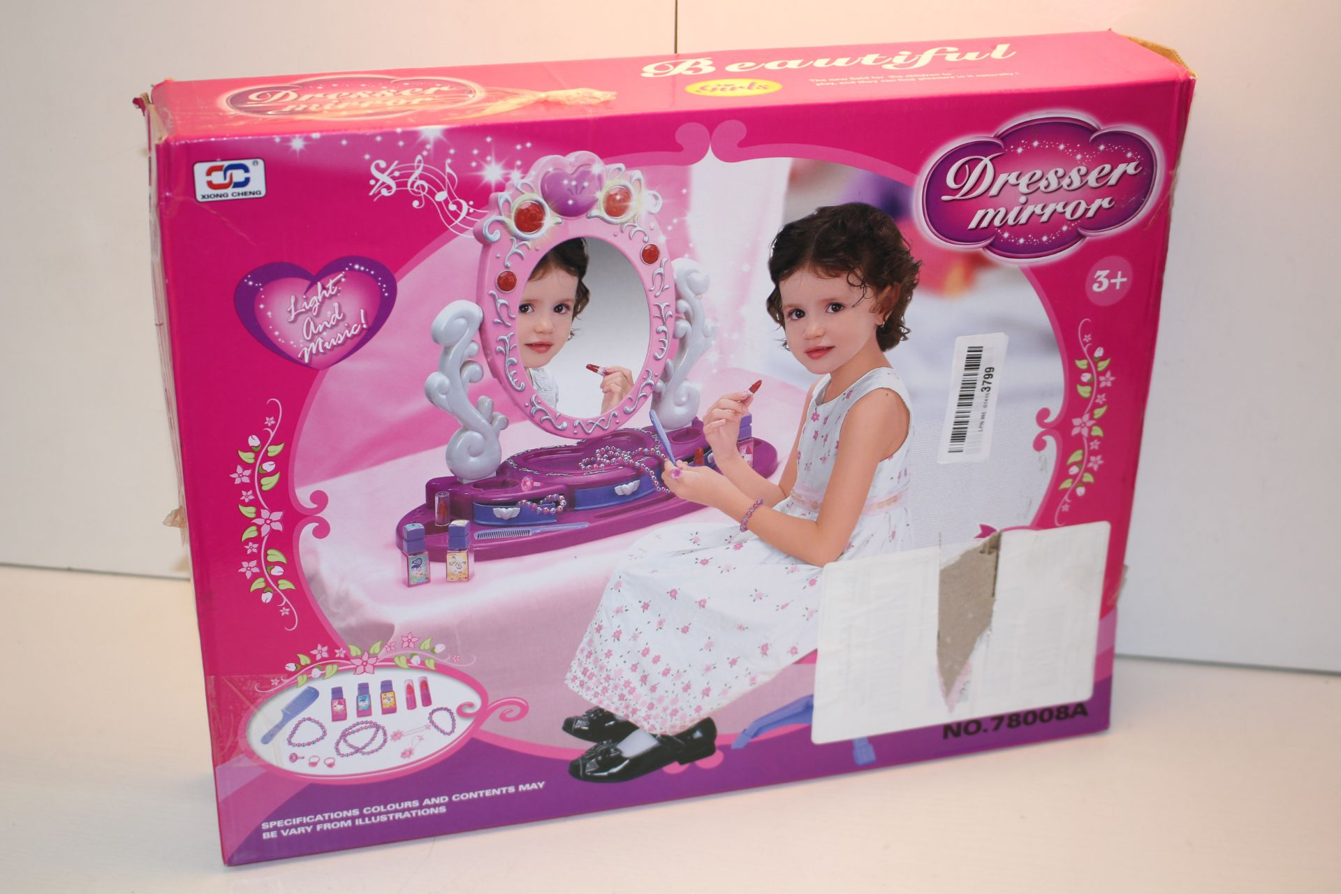 BOXED DRESSER MIRROR LIGHT AND MUSIC RRP £27.89Condition ReportAppraisal Available on Request- All