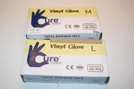2X BOXED VINYL GLOVES CURE GUARD Condition ReportAppraisal Available on Request- All Items are