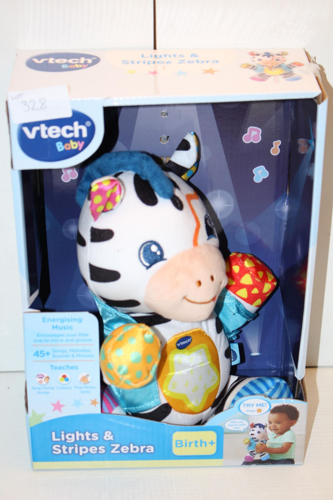 BOXED VTECH BABY LIGHTS & STRIPES ZEBRACondition ReportAppraisal Available on Request- All Items are