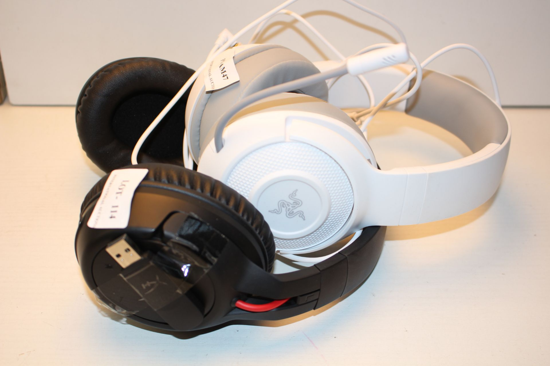 2X UNBOXED GAMING HEADSETS BY RAZER & HYPER X (IMAGE DEPICTS STOCK)Condition ReportAppraisal