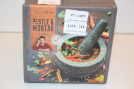 BOXED JAMIE OLIVER PESTLE & MORTAR RRP £34.99Condition ReportAppraisal Available on Request- All