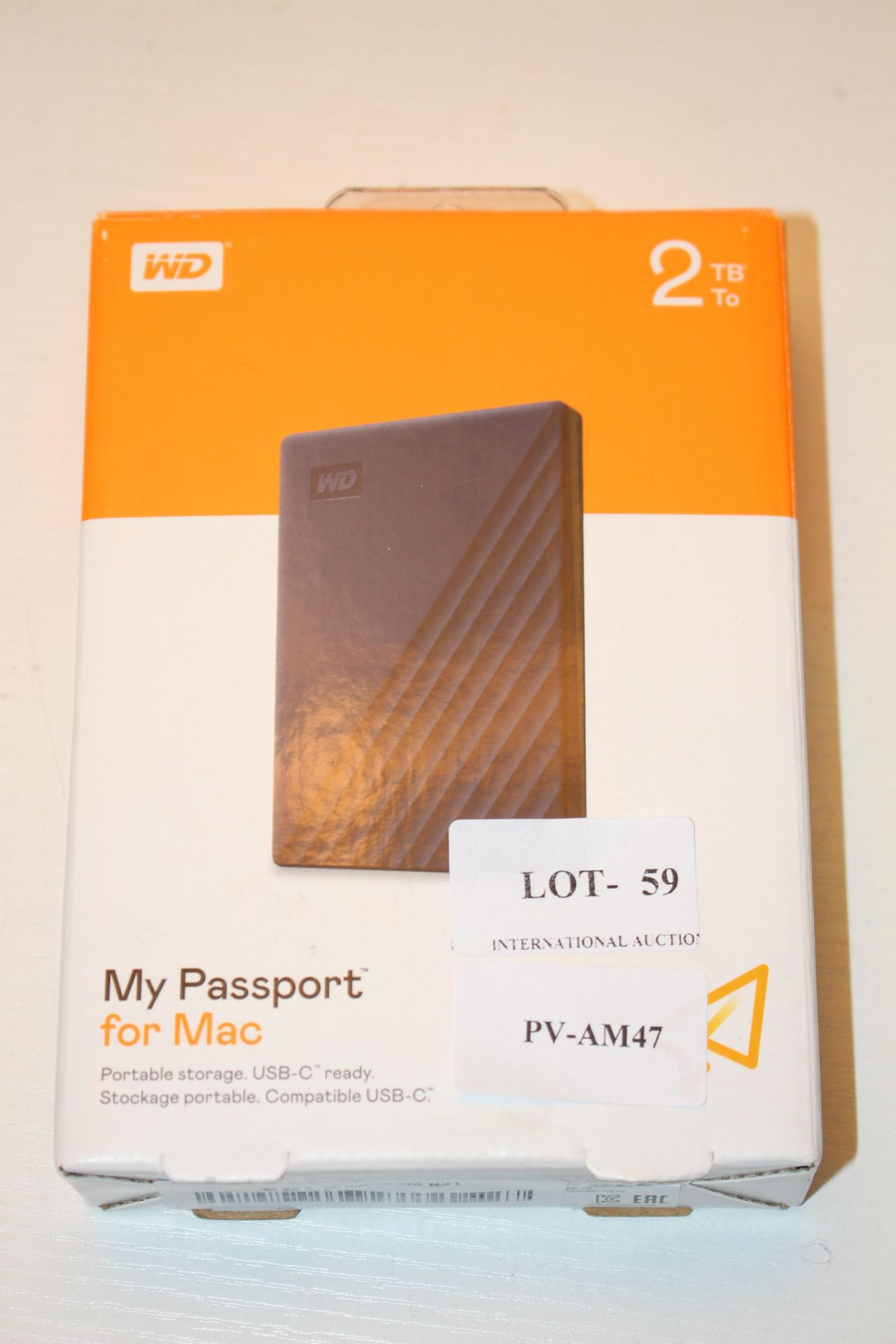 BOXED WD MY PASSPORT FOR MAC 2TB RRP £60.00Condition ReportAppraisal Available on Request- All Items