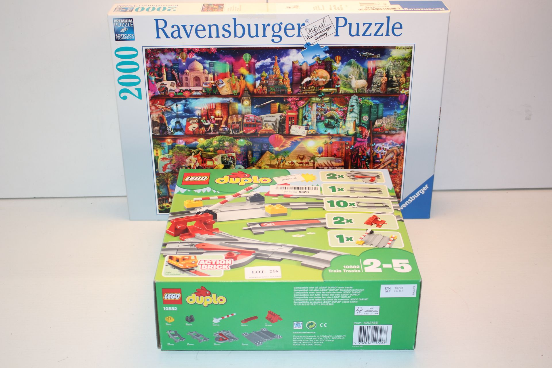 2X BOXED ASSORTED ITEMS TO INCLUDE LEGO DUPLO & RAVENSBURGER PUZZLE (IMAGE DEPICTS STOCK)Condition