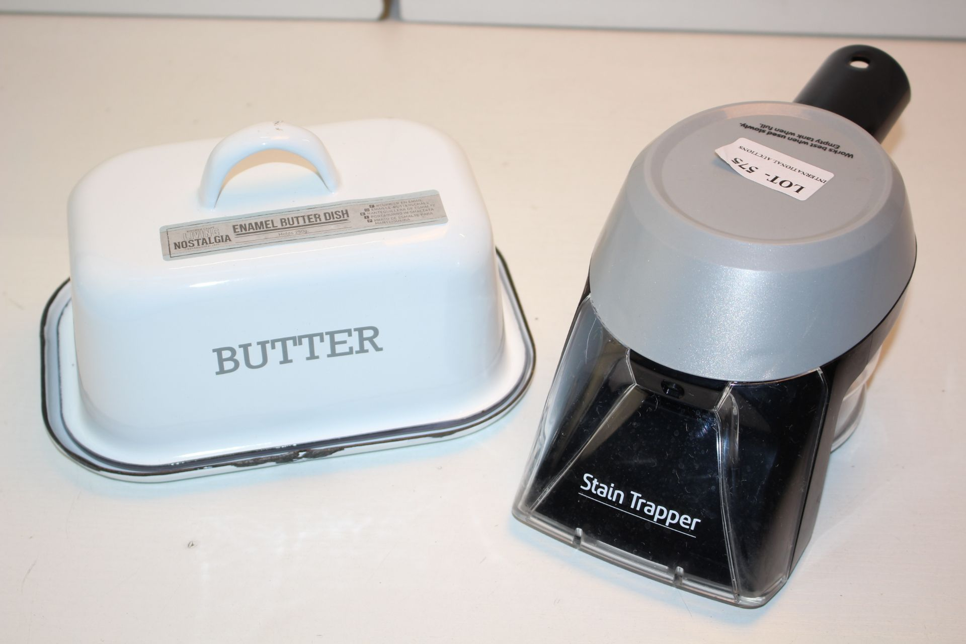 X2 ITEMS IUNCLUDING BUTTER CONTAINER AND STAIN REMOVERCondition ReportAppraisal Available on