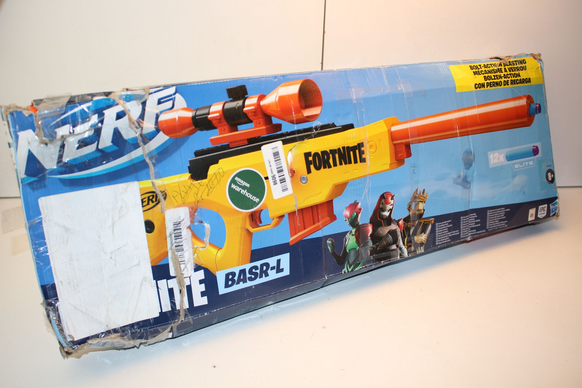 BOXED NERF FORTNITE BASR-L RIFLE RRP £39.99Condition ReportAppraisal Available on Request- All Items