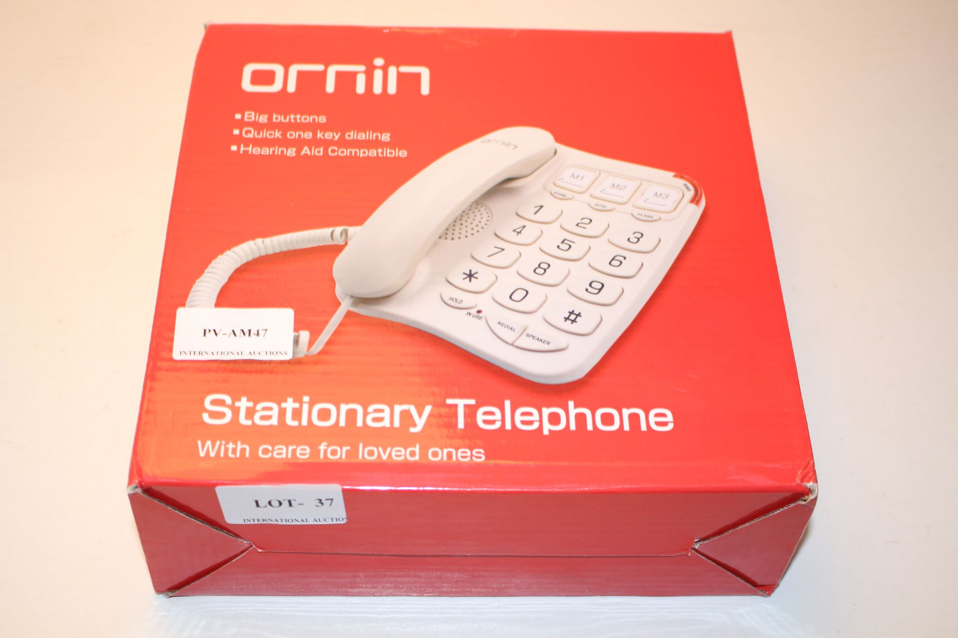 BOXED ORNIN STATIONARY TELEPHONE RRP £18.99Condition ReportAppraisal Available on Request- All Items